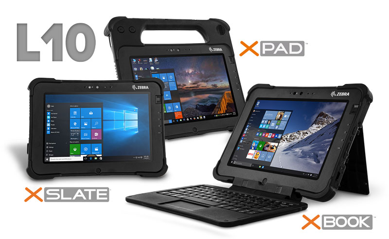 Zebra L10 Product Family including the XPAD, XSLATE and the XBOOK